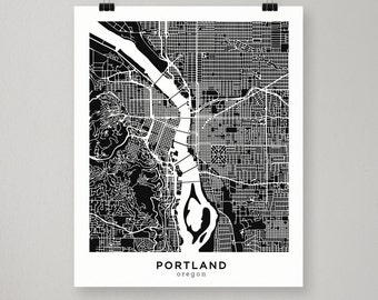 Portland Map / Illustrated Print / Portland, Oregon Poster