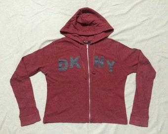 Vintage Donna Karan New York Dkny Petite Hooded Sweater