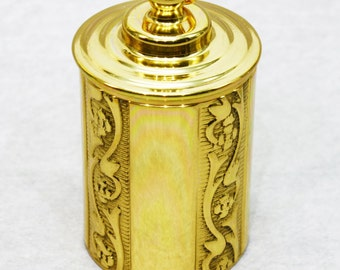 Thimble Case - Embossed - Brass
