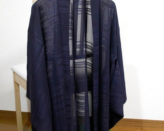 Cloth, square pattern haori with the translucency