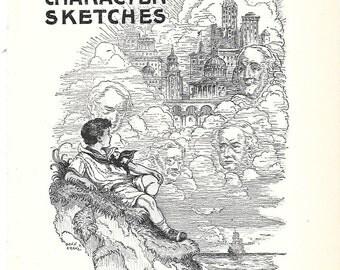 Vintage Nursery Print – Character Sketches - 1931