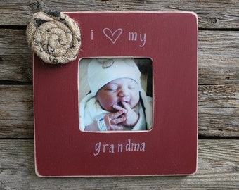 rustic grandma picture frame i love grandma photo frame burgundy picture frame mothers day gift