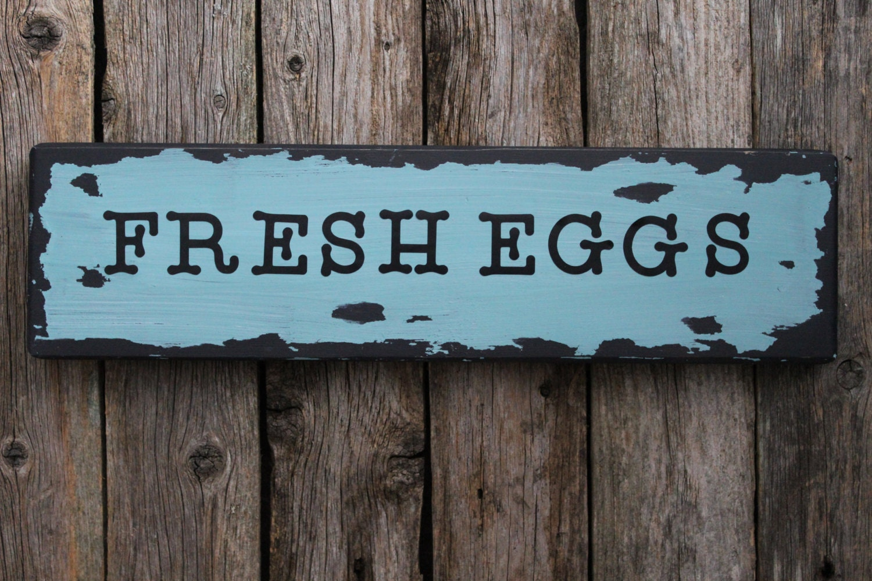 Fresh eggs sign farmhouse decor kitchen decor by myrusticplace