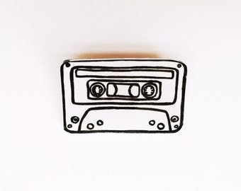 Cassette Tape Pin / Grunge Pin / Vintage Style Pin