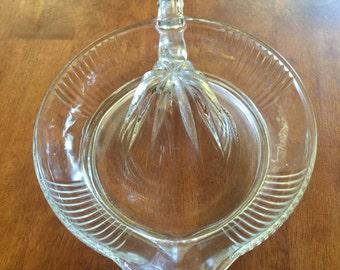 Glass Reemer Fruit Juicer Vintage Clear