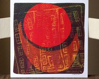 Moonscape - 8x8 Art Print