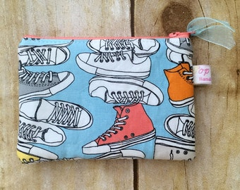 Colorful sneakers coin purse padded/ coin pouch/ small zipper pouch