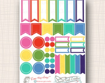 Functional Planner Stickers   Sensible Shapes Sampler   Dorothy Palette   45 Stickers Total   #SS07DOROTHY