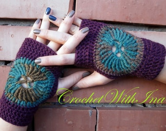 READY TO SHIP/Warm fingerless gloves/Colorfull gloves/Stylish driving gloves/Handknit armwarmers/Attractive mitts/ръкавици