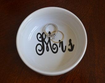 Round Ring Dish, Ring Holder, Personalized Ring Holder, Jewelry Dish, Jewelry Holder, Engagement Gift, Wedding Gift