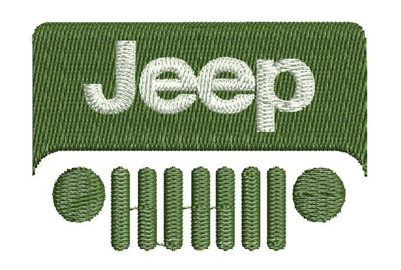 Jeep embroidery design sizes logo machine by crafts