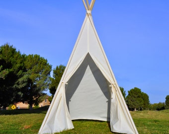 Ready to ship Plain Muslin Kids Teepee, Kids Play Tent, Childrens Play House, Tipi,Kids Room Decor