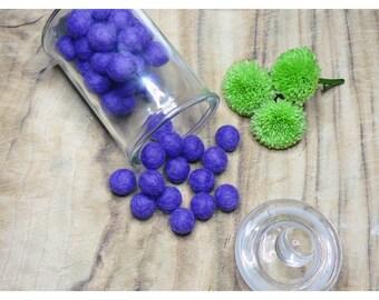 10 x Purple 1cm Felt balls