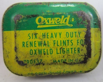 Oxweld Flints, Pair on tins, Vintage