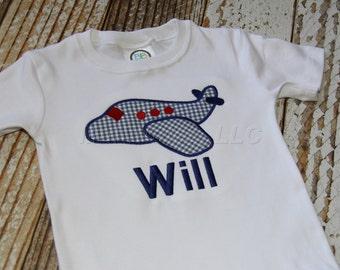 Boys Airplane Applique Shirt