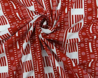 "Dressmaking Fabric Cotton Fabric For Sewing Designer 42"" Width Striped Printed Cotton Fabric Craft Red Pillow Curtain By The 1 Yard ZBC2969"