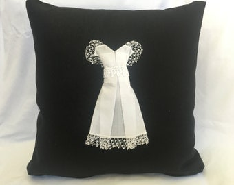 WEDDING HANKY Keepsake Pillow, Made-to-Order from YOUR Personal Wedding Handkerchief, Wedding Momento, Bridal Gift, Wedding Dress Pillow