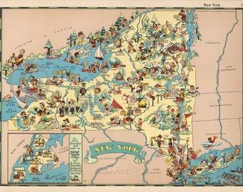 Upstate New York Etsy - Map of upstate ny
