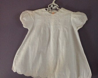 Vintag Hand Made Cotton Baby Dress Made in Philippines