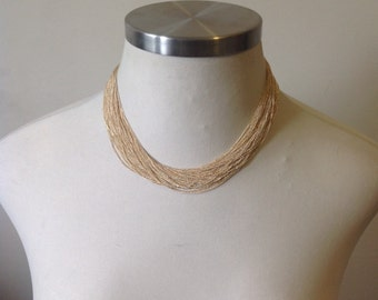 Silky multi chain necklace