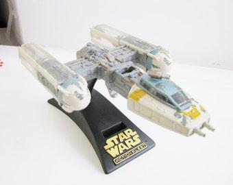 Vintage 1996 Star Wars Y-Wing Fighter  Star wars action Fleet