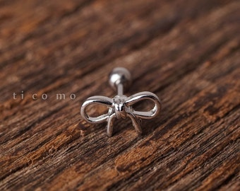 cartilage earring 16g tragus earring helix earring helix piercing cartilage stud cartilage piercing tragus piercing varabow bow tie