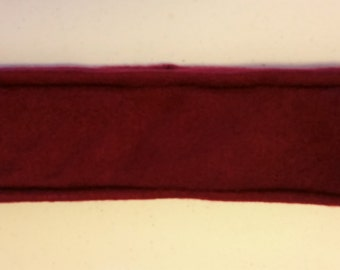 SALE - Burgundy Fleece Headband