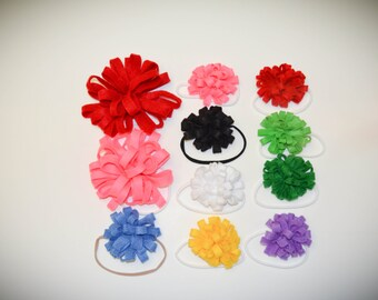 Small Felt Flower bows