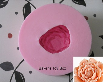 Peony Flower Mold - Peony Silicone Mold - Flower Molds -  Food Safe Molds - Fondant Molds - Resin Molds - Cake Decorating Molds - Moulds