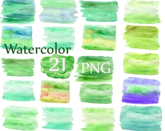 """Watercolor Washes Clipart: """"WATERCOLOR STROKES CLIPART"""" watercolor background Watercolor textures Watercolor splash Green watercolor clipart"""