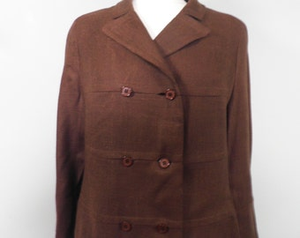 Brown Vintage Coat  1960s  Size S