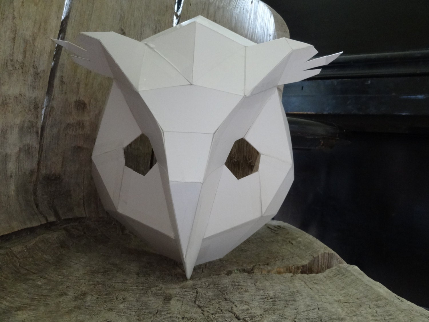 make your own owl mask bird mask from cardboard instant