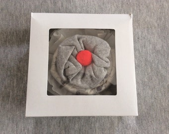 Baby onesie cupcake, onesie cupcake with receiving blanket, shower gift, baby gift