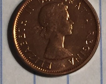 Uncirculated 1961 BU Canadian One Cent Coin #D115