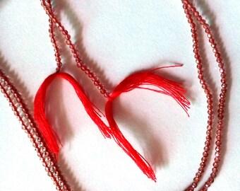Garnet Faceted Beads Semi Precious Stone Beads (Per Strand)