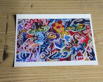 Print animals sailors and shape abstract Format 8 1/2 by 11 inches