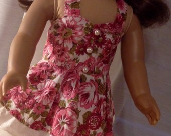 18inch dolll floral sundress