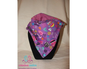 Infinity reversible scarf for baby