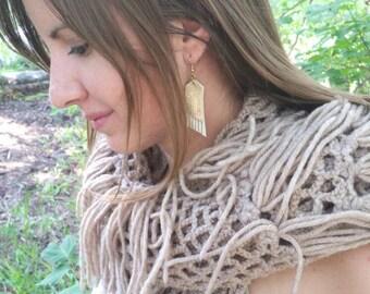 Earrings, fringe earrings, leather earrings, dangle earrings, boho jewelry