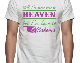 Been to Oklahoma Tee Shirt Design, SVG, DXF Vector files for use with Cricut or Silhouette Vinyl Cutting Machines.  PNG for Direct Printing