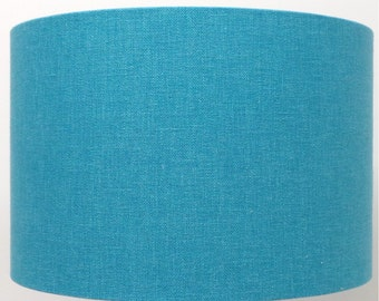 Kingfisher Blue/Teal Linen Effect Lampshade, Table Lamp, Pendant, Ceiling Shade