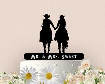 Western Inspired Wedding Cake Topper