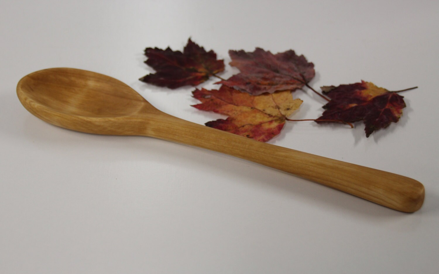 Wood spoon hand carved red maple chef s
