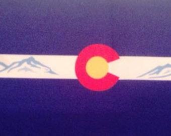 Colorado Flag and Mountains Collar