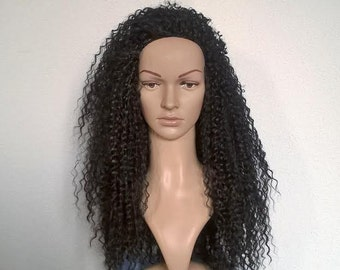 Semi Natural Long Curly Crochet Wig