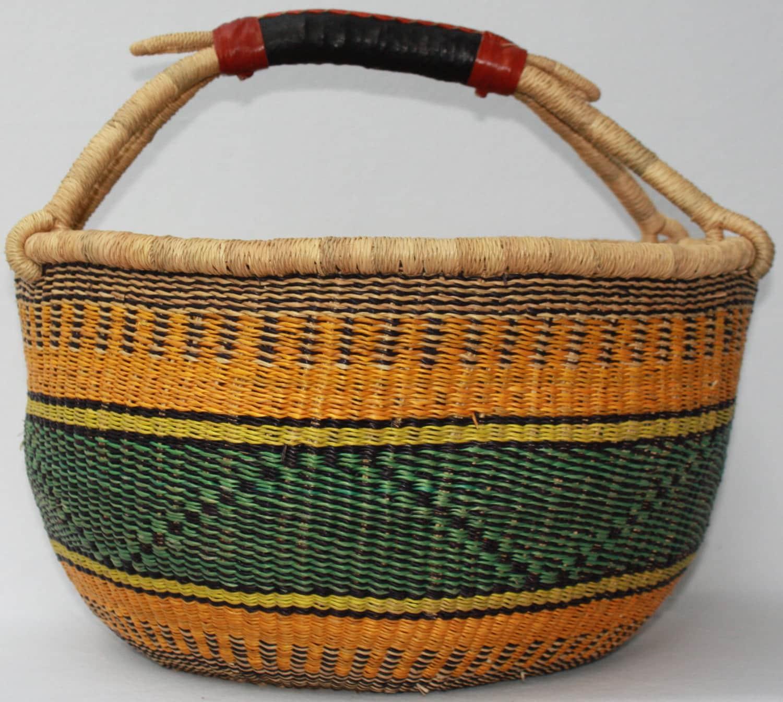 African Baskets: African Basket Storage Basket Bolga Basket Woven Basket
