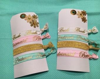 Bride/Bridesmaid elastic hair ties..