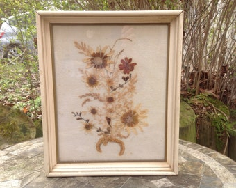 Vintage Dried Flower Framed Large