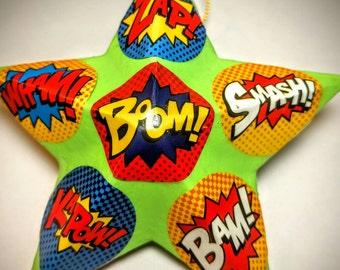 Comic Book Christmas Ornament / Comic Party Favor