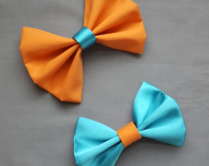 handmade child bow colorful bows, can be oversized toddler bow baby bow pink grey, blue orange matching bow, Christmas bow